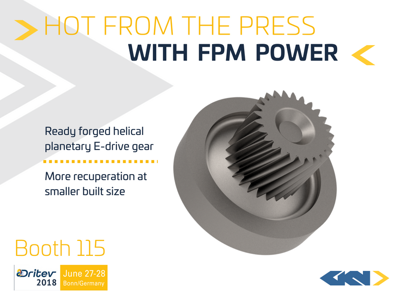 FPM helical gear enabling more recuperation at smaller built size-1